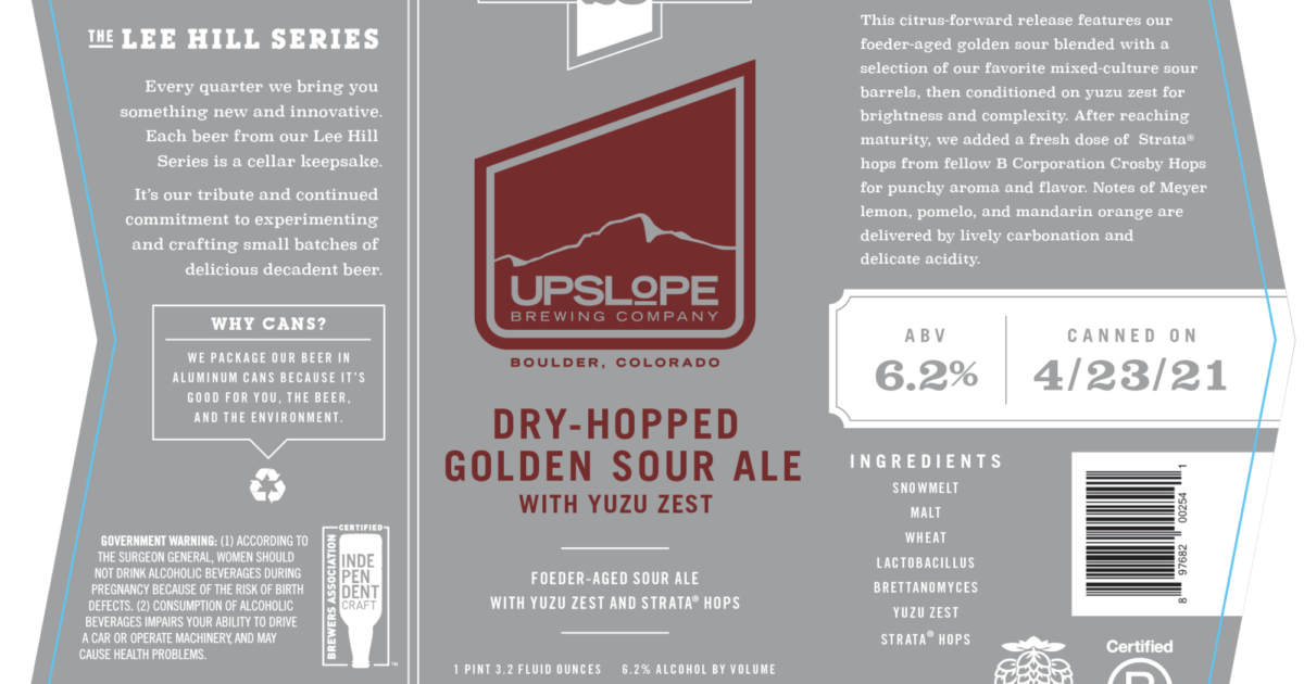 Upslope and Crosby: Kindred Spirits Collaborate on a Strata® Sour