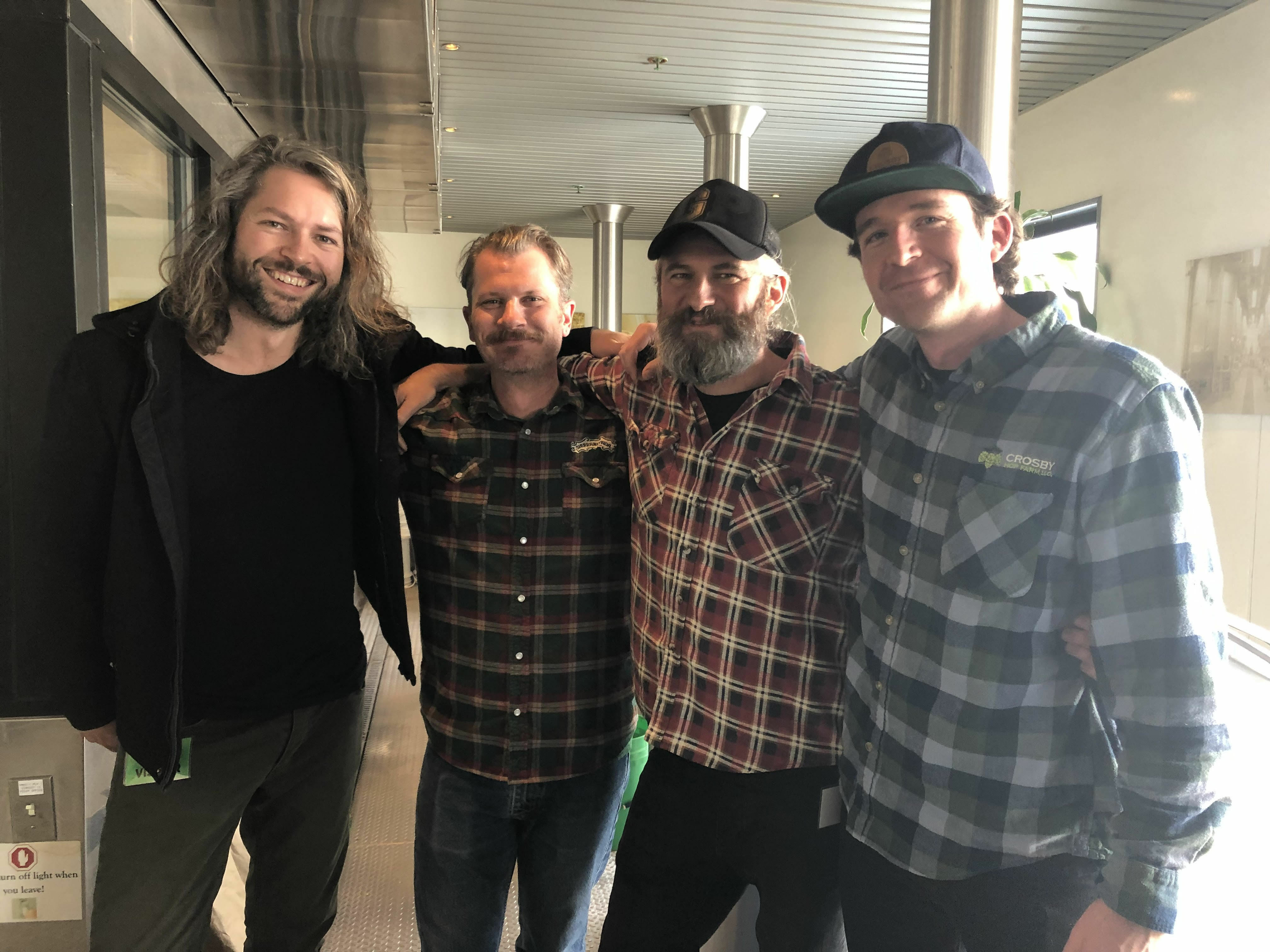 The-crew-from-Garage-Project-Sierra-Nevada-and-Crosby-Hop-Farm-collaborating-on-a-beer-for-the-2019-Craft-Brewers-Conference.-image-courtesy-of-Crosby-Hop-Farm